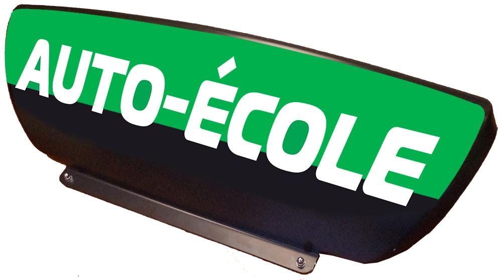 panneau de toit leaf bi color noir 2 3 fond adh sif vert lettres blanches r tro. Black Bedroom Furniture Sets. Home Design Ideas