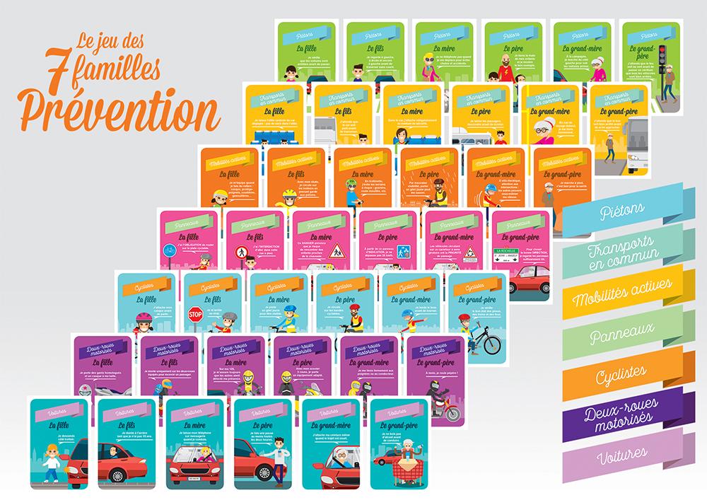 jeu de 7 familles pr vention s curit routi re enpc editions nationales du permis de conduire. Black Bedroom Furniture Sets. Home Design Ideas